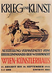 Plakat zur Ausstellung Krieg und Kunst