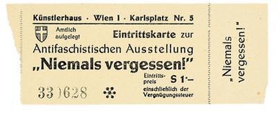 Eintrittskarte für die Antifaschistische Ausstellung