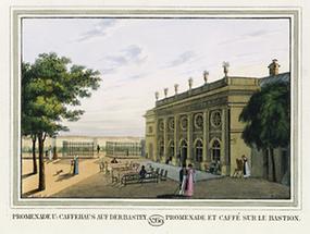 Promenade und Caffehaus auf der Bastey