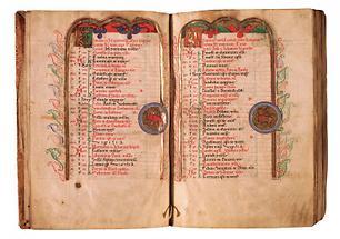 Calendarium für Dezember und Anfang des ersten Psalms