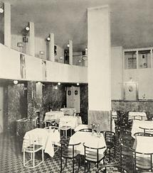 Theatersaal des Cabaret Fledermaus