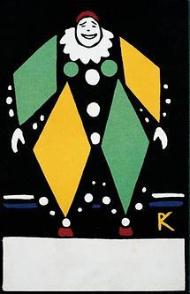 WW-Postkarte mit Clown