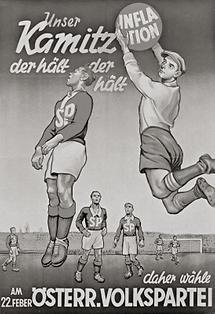 Wahlplakat der ÖVP in den 50ern