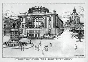 Entwurf für das Historische Museum der Stadt Wien