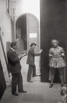 Peter Stanchina als Lorenzo vor seinem Auftritt