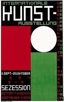 Plakat zur Internationalen Kunstausstellung 1924