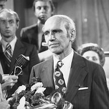 Bundespräsident Rudolf Kirchschläger bei der Wahl 1974