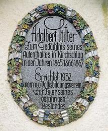 Erinnerungstafel an Adalbert Stifter in Kirchschlag
