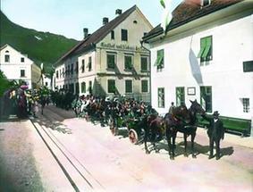 Festzug am Kirtag im Salzkammergut