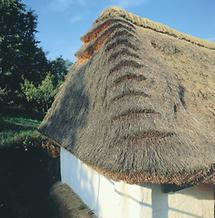 Strohgedeckter Kitting im südlichen Burgenland