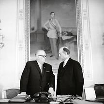 Vizekanzler Bruno Pittermann und Bundeskanzler Josef Klaus