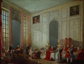 Mozart am Klavier im Salon des Prinzen von Conti