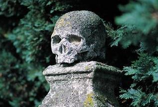 Memento mori am Friedhof Kleinzell