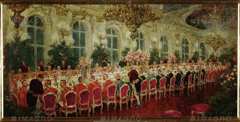 gala dinner in sch nbrunn koch ludwig historische bilder imagno bilder im austria forum. Black Bedroom Furniture Sets. Home Design Ideas