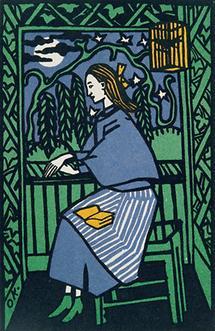 Lesendes Mädchen am Fenster