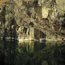 Granitmauer unterhalb der Todesstiege von Mauthausen