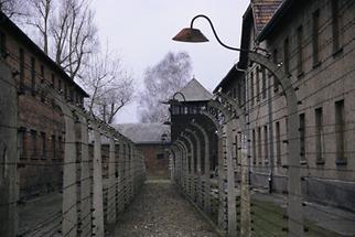 Baracken im Konzentrationslager Auschwitz