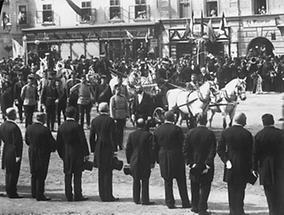 Kaiser Franz Joseph I  bei einer Parade