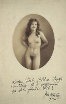 Akt aus Peter Altenbergs Photographie-Sammlung