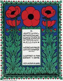 Plakat zur 11. Ausstellung der Secession