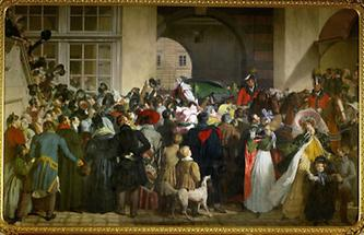 Kaiser Franz II kehrt nach der Belagerung von Napoleon nach Wien zurück