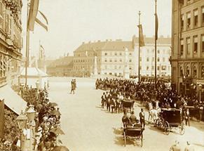 Eröffnung der neuen Franzensbrücke in Wien