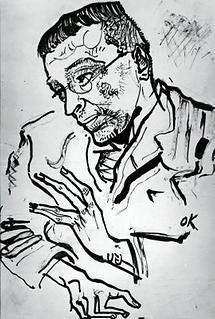 Bildniszeichnung Karl Kraus I