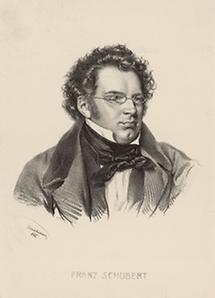 Franz Schubert. Lithographie von Josef Kriehuber