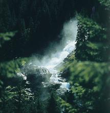 Die Krimmler Wasserfälle in den Hohen Tauern