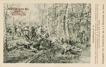 Bildpostkarte. Erster Weltkrieg. Propaganda
