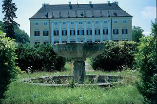 Gartenvase vor Schloss Frohsdorf