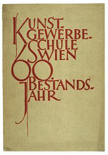 Katalogumschlag der Wiener Kunstgewerbeschule