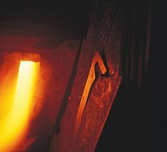 Alte Technik zur Eisenverarbeitung