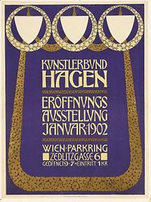 Plakat zur Eröffnungsausstellung des Hagenbundes 1902