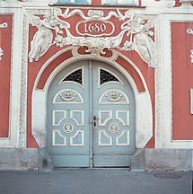 Portal des Hacklhauses in Leoben