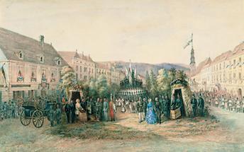 Kaiser Franz Joseph I. besucht Leoben