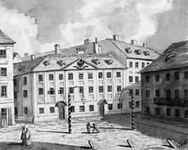 Ansicht des alten Leopoldstädter Theaters in Wien
