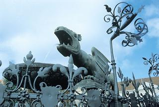 Der Lindwurm Brunnen in Klagenfurt