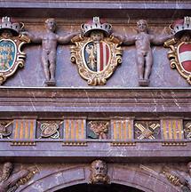 Das Wappen Oberösterreichs am Linzer Landhaus