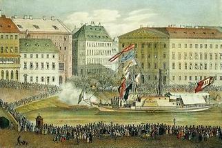 Das Dampfschiff Maria Anna in Linz