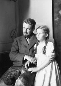 Konrad Lorenz mit seiner Tochter