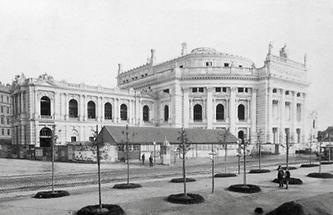 Das k. k. Hofburgtheater am Franzensring