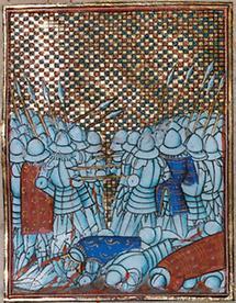 König Johann von Luxemburg bei Crecy