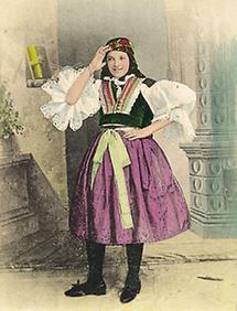 Junges slowakisches Bauernmädchen