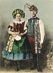 Junges slowakisches Paar aus Mähren
