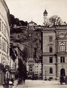 Elektrischer Aufzug auf den Mönchsberg in Salzburg