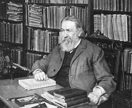 Ernst Mach in seiner Bibliothek