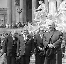 Bruno Pittermann, Alfons Gorbach, Maleta Alfred, Schärf Adolf