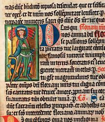 Hl. Florian, Darstellung im Missale Heinrichs von Marbach