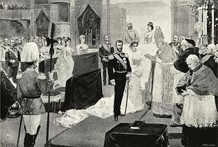 Trauung von Erzherzog Karl Stephan und Erzherzogin Maria Theresia